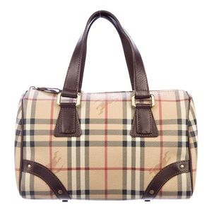 Authentic Burberry Chester Bowling Boston Bag